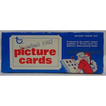 1987 Topps Baseball Vending Box (Case Fresh) (Reed Buy)