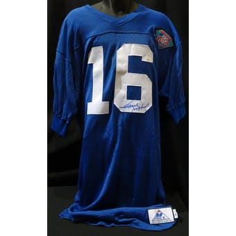 Frank Gifford Detroit Lions Auto NFL 75th Authentic Throwback Jersey (Apex 46 L) JSA KK52043 (Reed Buy)