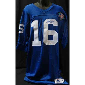 Frank Gifford Detroit Lions Autographed 75th Authentic Throwback Jersey (Apex 46 L) JSA KK52044 (Reed Buy)