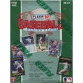 1992 Fleer Baseball Wax Box (Reed Buy)