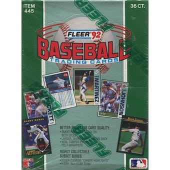 1992 Fleer Baseball Wax Box