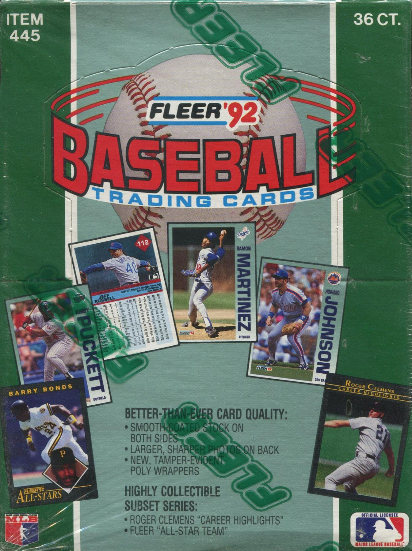 1992 Fleer Baseball Wax Box Da Card World