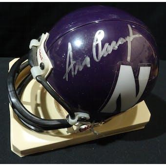 Ara Parseghian Northwestern Wildcats Autographed Football Mini Helmet JSA KK52133 (Reed Buy)