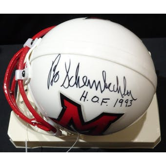 Bo Schembechler Miami-Ohio Auto Football Mini Helmet (HOF 1993) JSA KK52114 (Reed Buy)