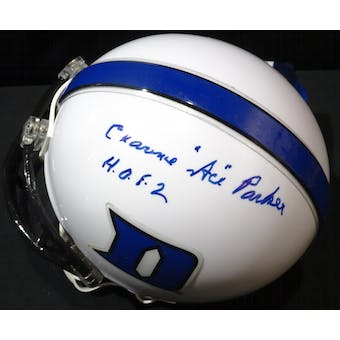 "Clarence ""Ace"" Parker Duke Blue Devils Auto Football Mini Helmet (HOF) JSA KK52134 (Reed Buy)"