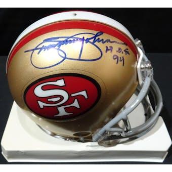 Jimmy Johnson San Francisco 49ers Auto Football Mini Helmet (HOF 94) TriStar (Reed Buy)