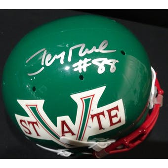 Jerry Rice Mississippi Valley State Auto Football Mini Helmet Rice Hologram (Reed Buy)