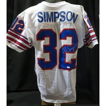 OJ Simpson Buffalo Bills Autographed Authentic Jersey (Wilson 44)(stains) JSA KK52047 (Reed Buy)
