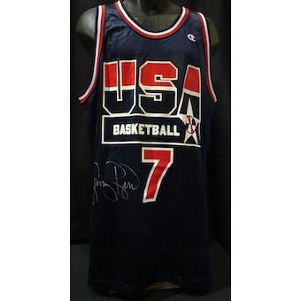 Larry Bird USA Olympic Autographed Authentic Jersey (Champion 48) JSA KK52063 (Reed Buy)