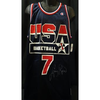 Larry Bird USA Olympic Autographed Authentic Jersey (Champion 48) JSA KK52062 (Reed Buy)
