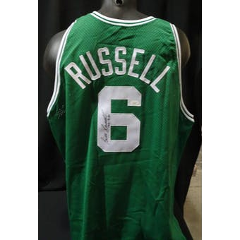 Bill Russell Boston Celtics Autographed Authentic Jersey (Champion 48) #/250 JSA KK52065