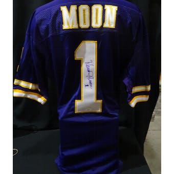 Warren Moon Minnesota Vikings Auto NFL 75th Authentic Throwback Jersey JSA KK52006 (Reed Buy)
