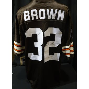Jim Brown Cleveland Browns Auto Authentic Jersey (Russell 48) (HOF 71) JSA KK52022 (Reed Buy)
