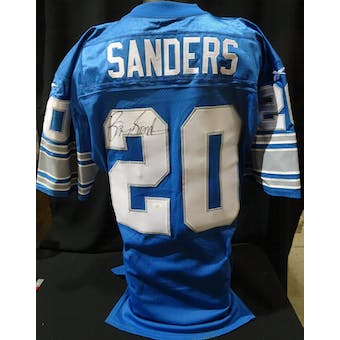 Barry Sanders Detroit Lions Auto Team Issued Jersey (98 Reebok 44+4 Giants) JSA KK52027 (Reed Buy)
