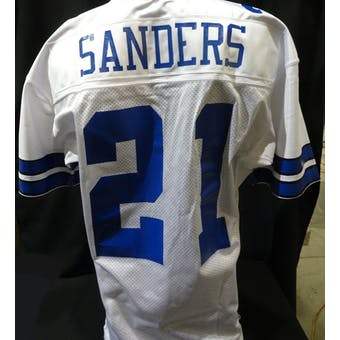 Deion Sanders Dallas Cowboys NFL 75th Throwback Prototype Jersey (98 Nike 46+3) (Reed Buy)