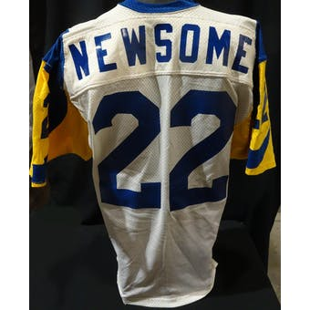 Vince Newsome Los Angeles Rams Game Used Jersey 40th (1985 Sand-Knit 46) (Reed Buy)