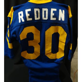 Barry Redden Los Angeles Rams Game Used Jersey (1980s Sand-Knit 46) (Reed Buy)