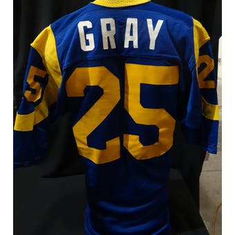 Jerry Gray Los Angeles Rams Game Used Jersey (1980s Sand-Knit 46) (Reed Buy)