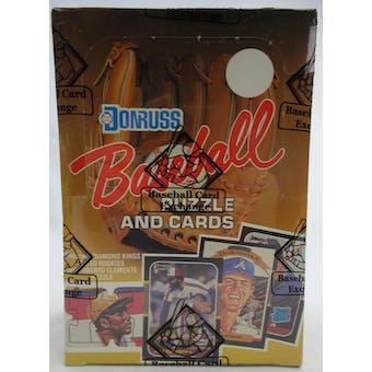 1987 Donruss Baseball Wax Box (BBCE) (FASC) (Reed Buy)
