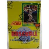 1990 Score Baseball Wax Box (BBCE) (FASC) (Reed Buy)