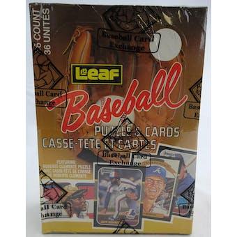 1987 Leaf Baseball Wax Box (BBCE) (FASC) (Reed Buy)