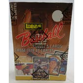1987 Leaf Baseball Wax Box (BBCE) (Reed Buy)