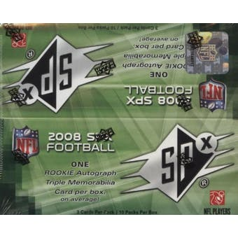 2008 Upper Deck SPx Football Hobby Box
