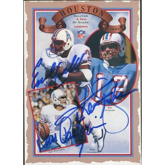 Earl Campbell/Ken Stabler/Dan Pastorini 1994 Upper Deck Commemorative Card JSA KK52492 (Reed Buy)