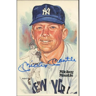 Mickey Mantle New York Yankees Autographed Perez-Steele JSA BB42478 (Reed Buy)