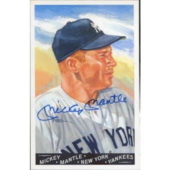 Mickey Mantle New York Yankees Autographed Baseball Perez-Steele Master Works Postcard JSA BB42482