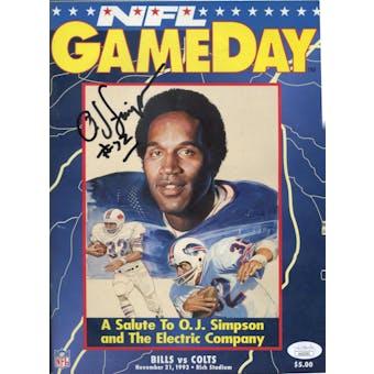 OJ Simpson Autographed NFL GameDay Program 11/21/93 JSA KK52793 (Reed Buy)