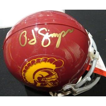 OJ Simpson USC Trojans Autographed Football Mini Helmet PSA/DNA B52203 (Reed Buy)