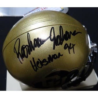 Rashaan Salaam Colorado Auto Football Mini Helmet (Heisman 94) TriStar 5035795 (Reed Buy)