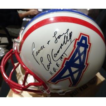 Earl Campbell Houston Oilers Autographed Football ProLine Helmet JSA KK52818 (Reed Buy)