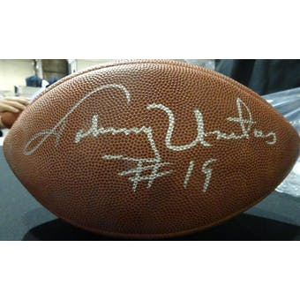 Johnny Unitas Autographed Official NFL Football JSA BB54091 (Reed Buy)