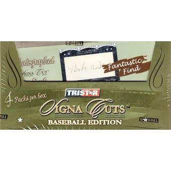 2008 TriStar Signa Cuts Baseball Hobby Box