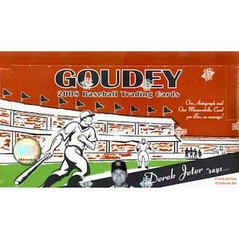 2008 Upper Deck Goudey Baseball Hobby Box