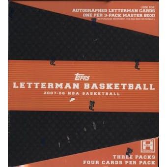 2007/08 Topps Letterman Basketball Hobby Box