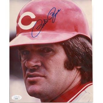 Pete Rose Cincinnati Reds Autographed 8x10 Photo JSA KK52841 (Reed Buy)