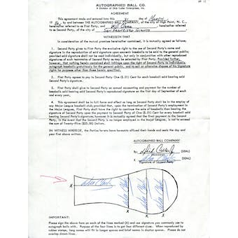 Will Clark Autographed 5x Player Agreement JSA Y31318 (Reed Buy)