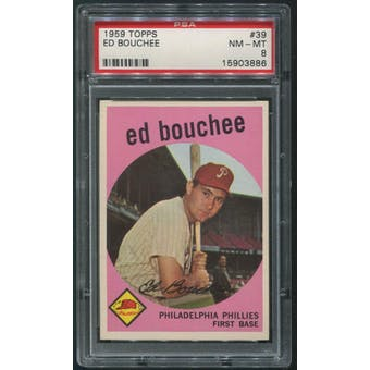 1959 Topps Baseball #39 Ed Bouchee PSA 8 (NM-MT)