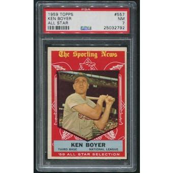 1959 Topps Baseball #557 Ken Boyer All Star PSA 7 (NM)