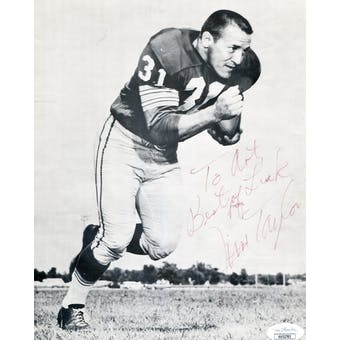 Jim Taylor Green Bay Packers Autographed 8x10 Photo (pers.) JSA KK52785 (Reed Buy)