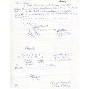 Ken Strong Handwritten and Signed Letter JSA KK52800 (Reed Buy)