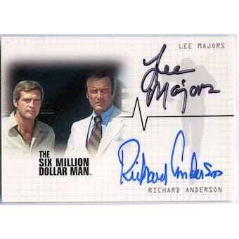 Lee Majors/Richard Anderson Rittenhouse Six Million Dollar Man Steve Austin #DA1 Autograph (Reed Buy)