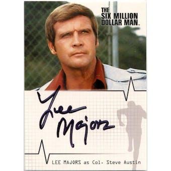 Lee Majors Rittenhouse Six Million Dollar Man #A14 Steve Austin Autograph (Reed Buy)