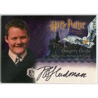 Joshua Herdman Artbox Harry Potter Sorcerer's Stone Gregory Goyle Autograph (Reed Buy)