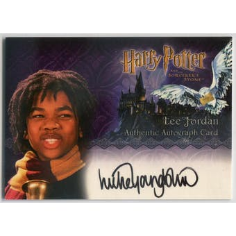 Luke Youngblood Artbox Harry Potter Sorcerer's Stone Lee Jordan Autograph (Reed Buy)