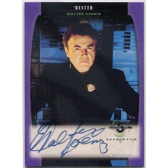 Walter Koenig Skybox Babylon 5 #A03 Bester Autograph (Reed Buy)