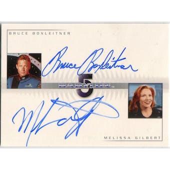 Bruce Boxleitner/Melissa Gilbert Rittenhouse Babylon 5 #DA1 Autograph (Reed Buy)